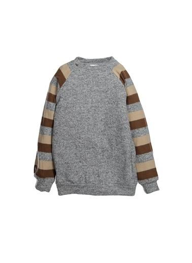 Zeyland Kolları Çizgili Sweatshirt (5-12yaş) Kolları Çizgili Sweatshirt (5-12yaş) Gri
